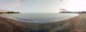 黒沙湾のパノラマを2つ\(^▽^)/