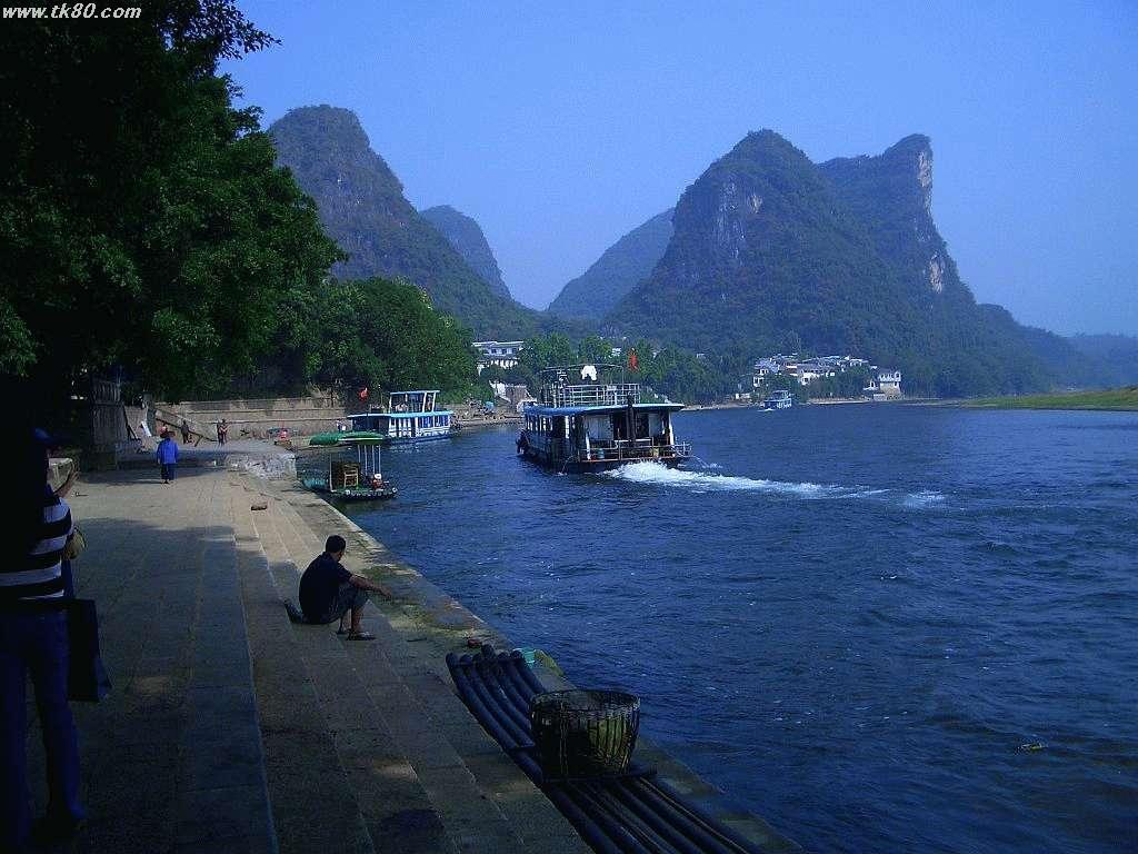 ここが漓江の船着き場です