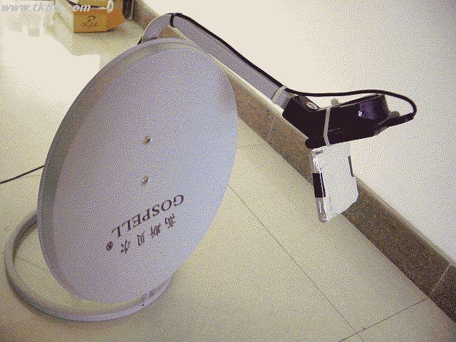 無線LANアダプタ:WLI-U2-G54HPと40センチオフセットアンテナです